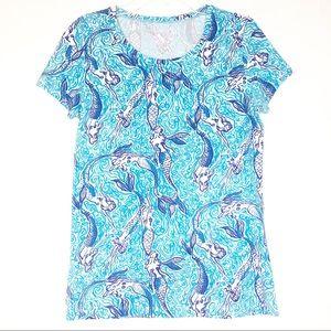 Lilly Pulitzer Nice Tail Mermaid T-Shirt Sz Small
